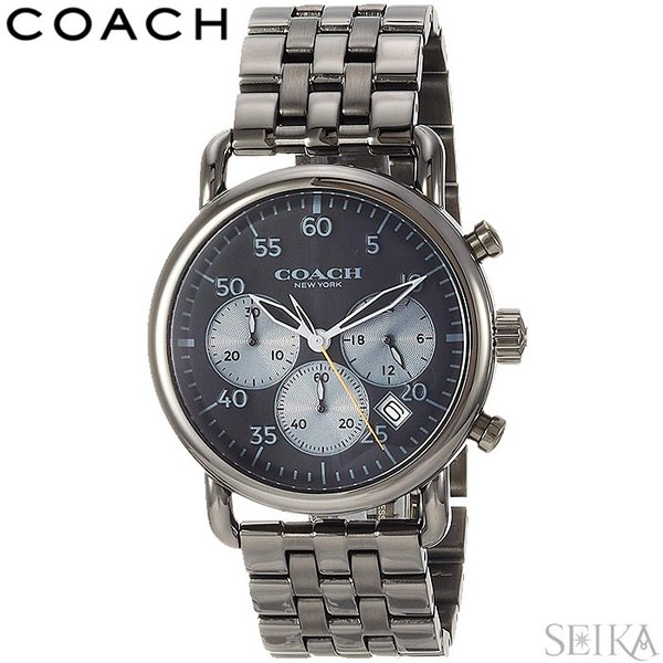 9a75fdb6fa89 コーチ COACH 14602138時計 腕時計 メンズ ガンメタル クロノグラフ 父の日の画像