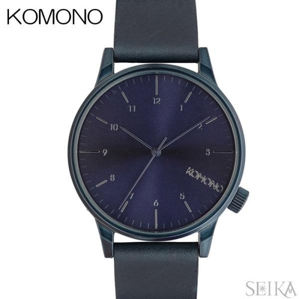 コモノ KOMONO 時計 ウィンストンリーガル WINSTON REGAL ALLBLUE(6)KOM-W2266腕時計 メンズ ダークネイビー レザー|ryus-select
