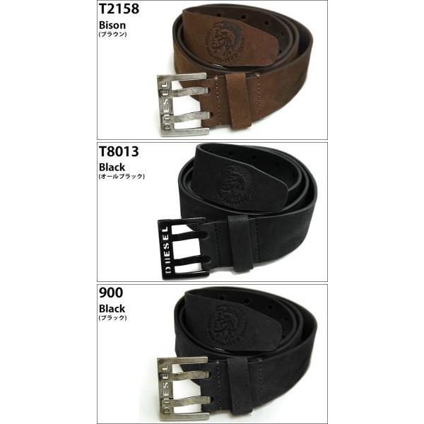 (6) DIESEL ディーゼル ヴィンテージ加工 メンズ ベルトX03714 00S5FP BIT 85 90 95 サイズ|ryus-select|02