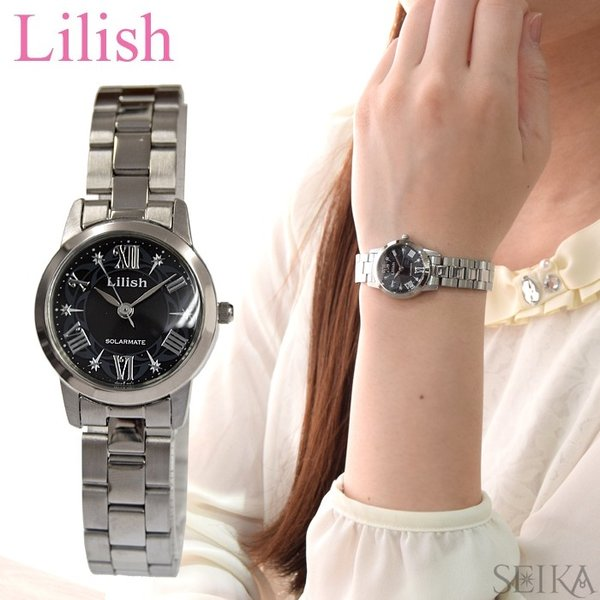 シチズン CITIZEN リリッシュ Lilish レディース 時計 (H039-901) ソーラー ブラック シルバー ryus-select