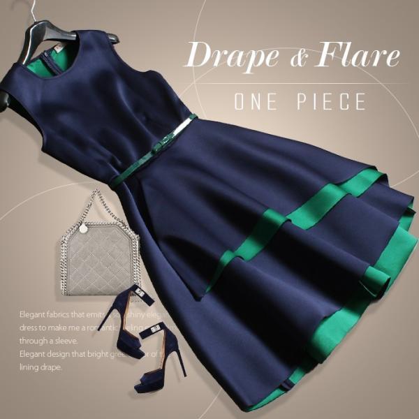 パーティードレス ワンピース 結婚式 フォーマル 二次会 袖なし お呼ばれ 20代 30代 40代  ドレス Aライン フレア|ryze