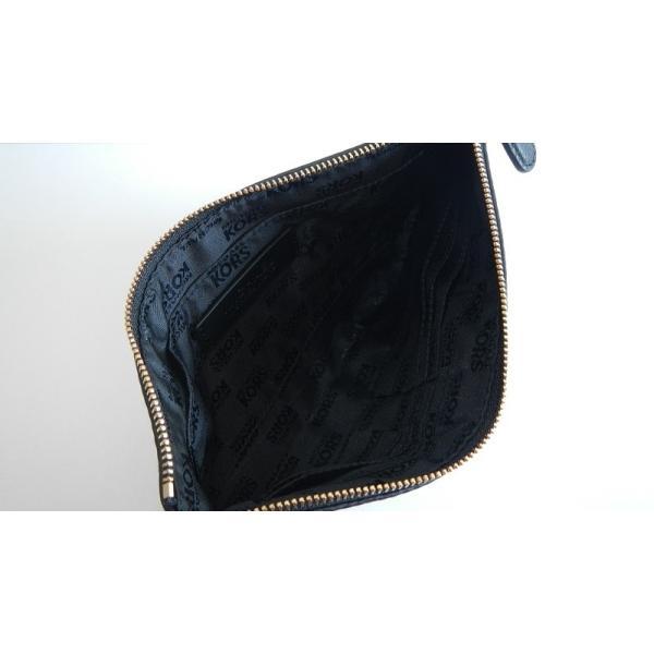 MICHAEL KORS マイケルコース クラッチバッグ ジップ クラッチ シンプル ブラック 黒 レザー 革 レディース|s-doubleone|02