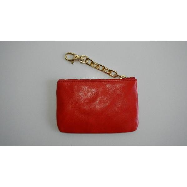 トリーバーチ TORY BURCH コインケース カードケース 財布 ファスナー レザー 革 赤 レッド レディース|s-doubleone|03