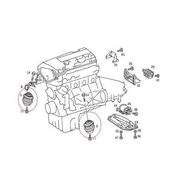 メルセデス ベンツ エンジンマウント 1点 W202,S202 W203,S202,CL203 W210,S210 W211,S211 C208,A208 C209,A209 R170 R171 マイレ製|s-hokusyo|04