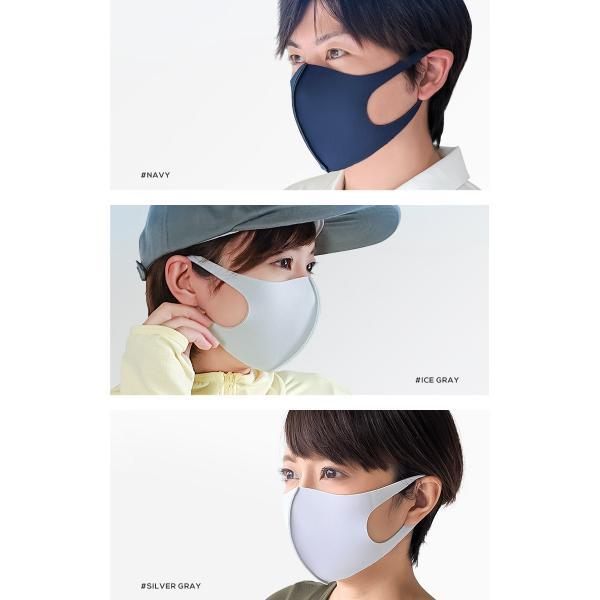 接触冷感 マスク 冷感 日本製 抗菌 洗える UVカット ウレタン 個包装 防塵 花粉 飛沫防止 ウィルス ウイルス 対策 レディース メンズ ジュニア 白 ネイビー|s-martceleble|14