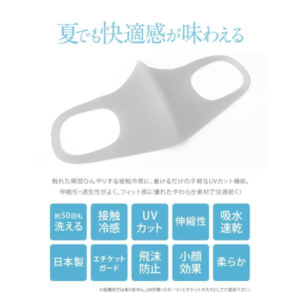 接触冷感 マスク 冷感 日本製 抗菌 洗える UVカット ウレタン 個包装 防塵 花粉 飛沫防止 ウィルス ウイルス 対策 レディース メンズ ジュニア 白 ネイビー|s-martceleble|06