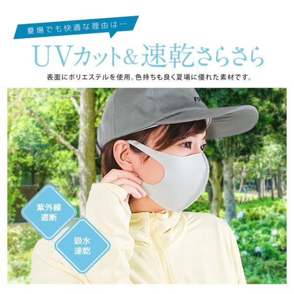 接触冷感 マスク 冷感 日本製 抗菌 洗える UVカット ウレタン 個包装 防塵 花粉 飛沫防止 ウィルス ウイルス 対策 レディース メンズ ジュニア 白 ネイビー|s-martceleble|07