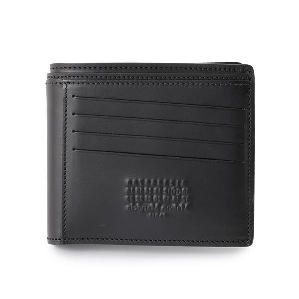 5ffb6bb1e0cf Maison Margiela メゾンマルジェラ 11 S55UI0144 SY0968 レザー 二つ折り財布 小銭入れなし ミニ財布  カラー900/ブラック メンズ