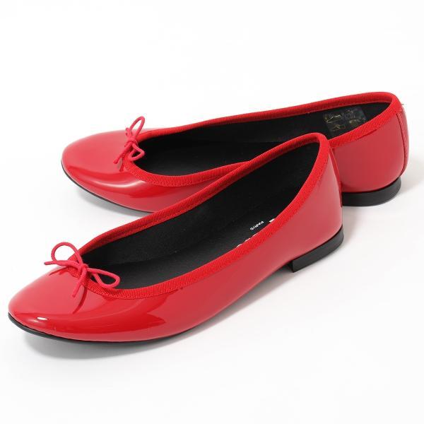 repetto レペット V1790VLUX LILI BALLELINA AD リリ パテントレザー バレエシューズ パンプス レインシューズ ミティックゴムライン 550/FLAMME 靴 レディース