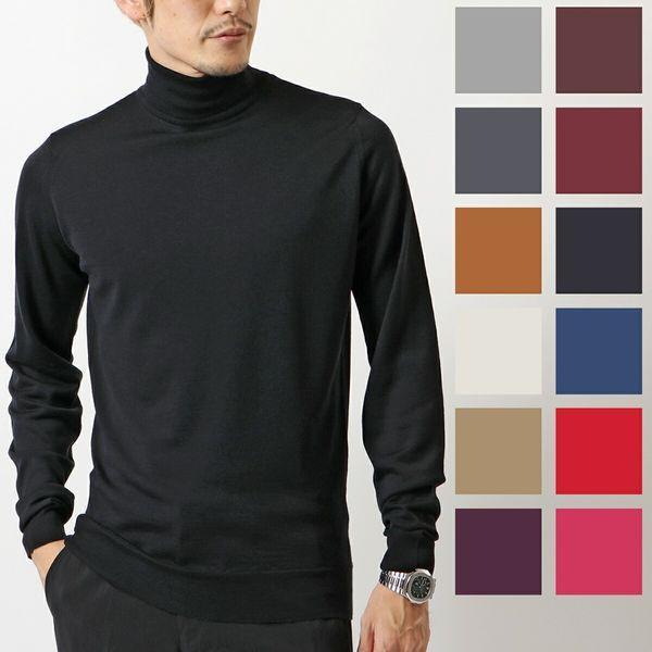 JOHN SMEDLEY ジョンスメドレー CHERWELL STANDARD FIT タートルネック ニット カラー5色 メンズ|s-musee
