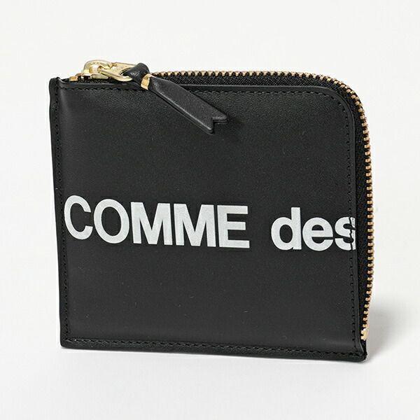 COMMEdesGARCONSコムデギャルソンSA3100HLHUGELOGOL字ファスナーコインケースミニ財布小銭入れBLAC