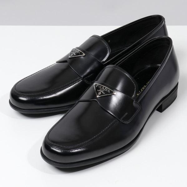 2,000円OFFクーポン対象 11日  PRADAプラダ2DB180P39LOGOレザーローファーシューズビジネスシューズ靴F