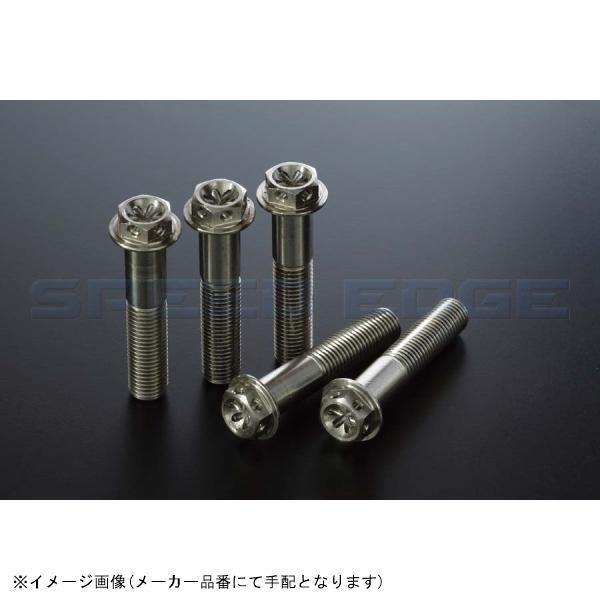 [KOK-1013F] KOHKEN(コーケン) ワイヤリング穴付ステンレスフランジボルト M10/P1.25 首下長65mm 2本セット