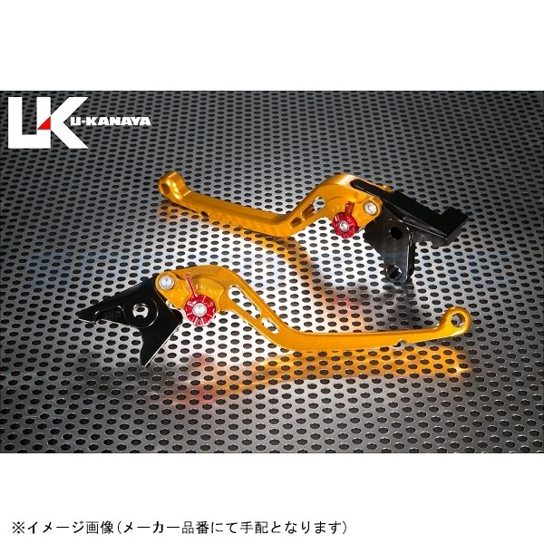[KA060-004-0102] U-KANAYA(ユーカナヤ) レバーセット スタンダード ロング ゴールド/オレンジ ELIMINATOR750/900/1000