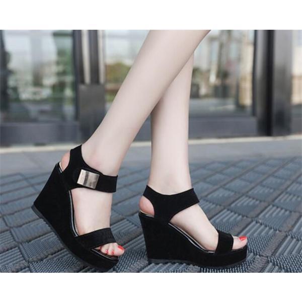 サンダル レディース ウェッジソール 厚底サンダル サマー ローヒール  歩きやすい 夏 カジュアル シューズ 婦人靴 痛くない