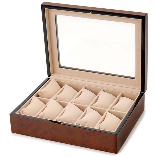 Royal hausen ロイヤルハウゼン 時計収納ケース 腕時計時計コレクションケース ディスプレイケース 木製 ブラウン 10本用 時計雑貨 新品 s-select 02
