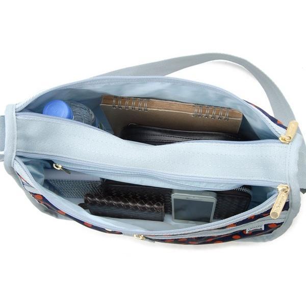 LeSportsac レスポートサック ショルダーバッグ 7507 G236 デラックスエブリデイバッグ CAT DOTS NAVY レスポ 新品