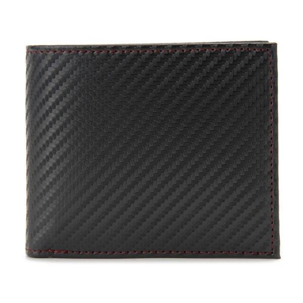 monte SPIGA モンテスピガ 二つ折り財布 MOSQS371BBKRD カーボン調 ブラック×レッド メンズ s-select