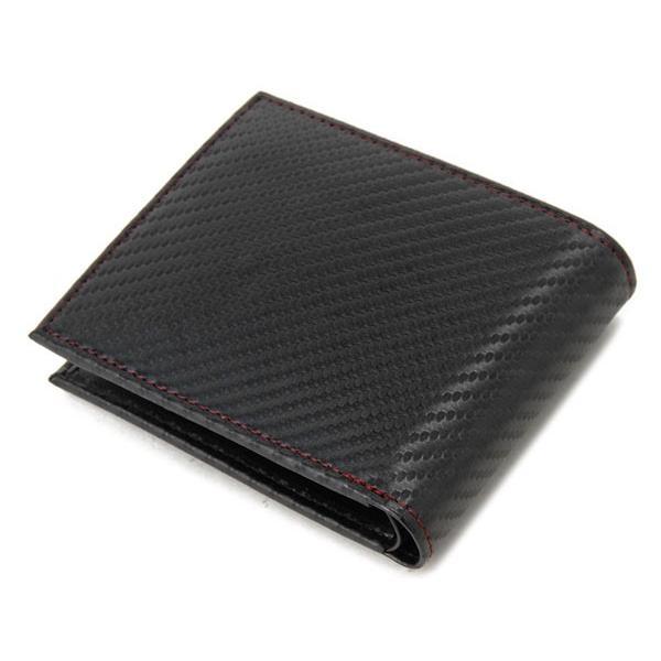 monte SPIGA モンテスピガ 二つ折り財布 MOSQS371BBKRD カーボン調 ブラック×レッド メンズ s-select 02