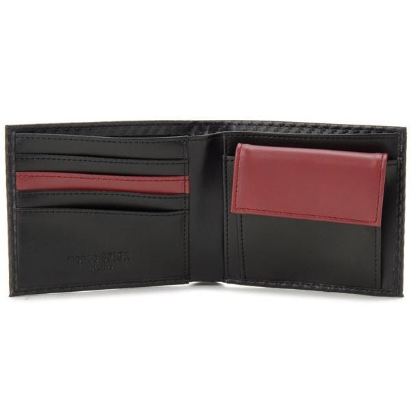 monte SPIGA モンテスピガ 二つ折り財布 MOSQS371BBKRD カーボン調 ブラック×レッド メンズ s-select 03