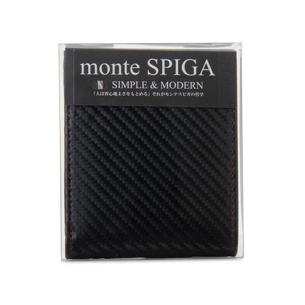 monte SPIGA モンテスピガ 二つ折り財布 MOSQS371BBKRD カーボン調 ブラック×レッド メンズ s-select 04