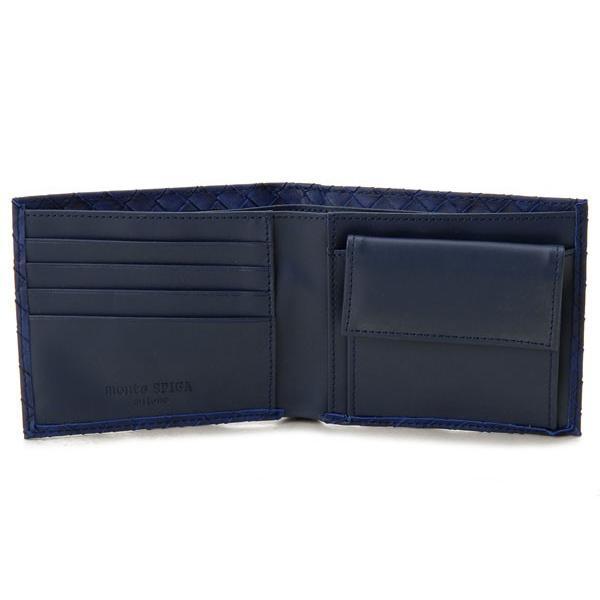 モンテスピガ 二つ折り財布 monte SPIGA MOSQS371NV ネイビー メンズ 財布 ブランド|s-select|03