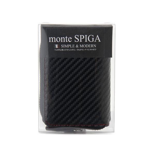 monte SPIGA モンテスピガ コインケース 小銭入れ MOSQS372EBKRD カーボン調 ブラック×レッド メンズ|s-select|04