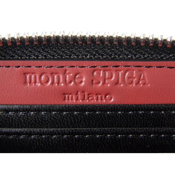 monte SPIGA モンテスピガ コインケース 小銭入れ MOSQS372EBKRD カーボン調 ブラック×レッド メンズ|s-select|05