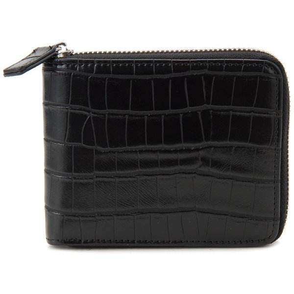 monte SPIGA モンテスピガ 二つ折り財布 MOSQS553BBK クロコ型押し ブラック メンズ|s-select