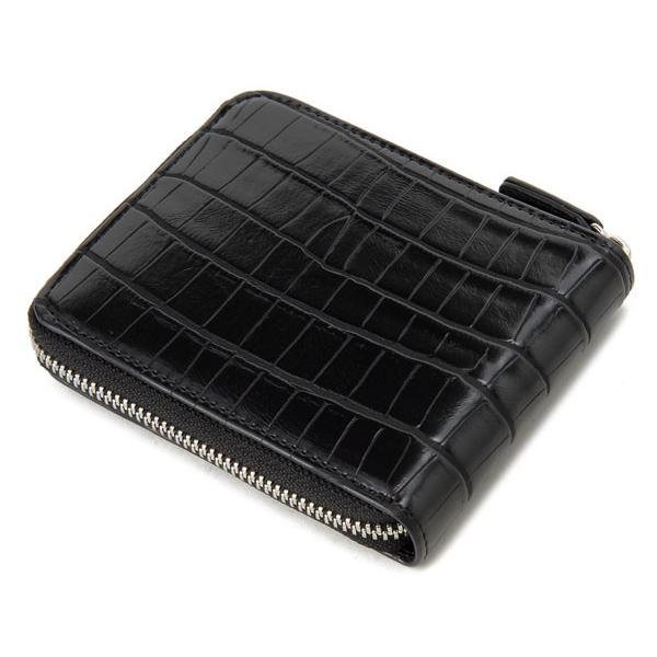 monte SPIGA モンテスピガ 二つ折り財布 MOSQS553BBK クロコ型押し ブラック メンズ|s-select|02