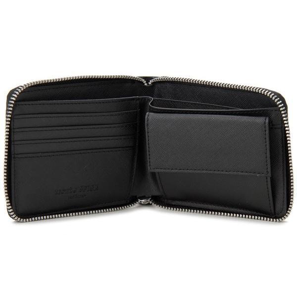 monte SPIGA モンテスピガ 二つ折り財布 MOSQS553BBK クロコ型押し ブラック メンズ|s-select|03