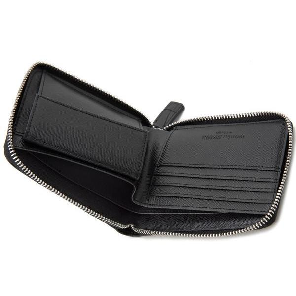 monte SPIGA モンテスピガ 二つ折り財布 MOSQS553BBK クロコ型押し ブラック メンズ|s-select|05