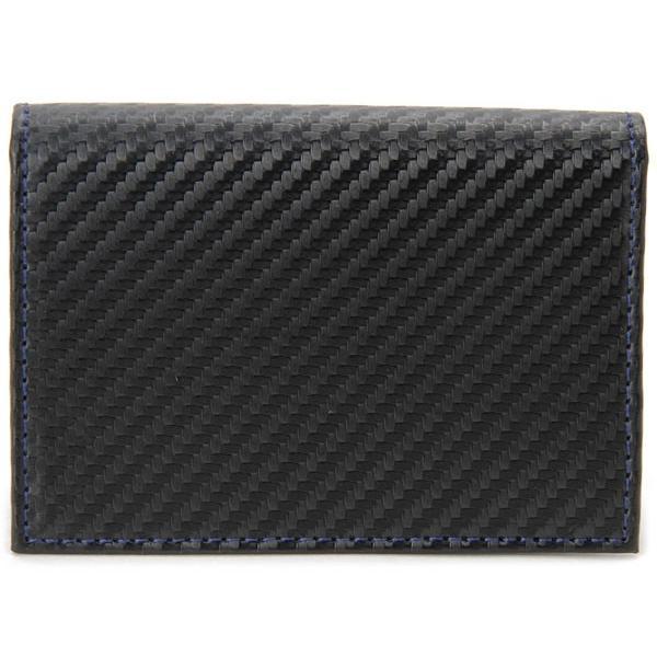 monte SPIGA モンテスピガ 名刺入れ MOSQS618ABKBL カーボン調 カードケース ブラック|s-select