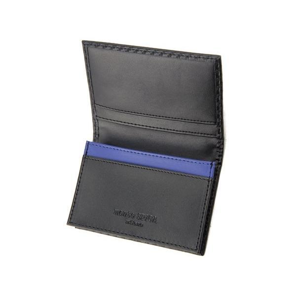 monte SPIGA モンテスピガ 名刺入れ MOSQS618ABKBL カーボン調 カードケース ブラック|s-select|03