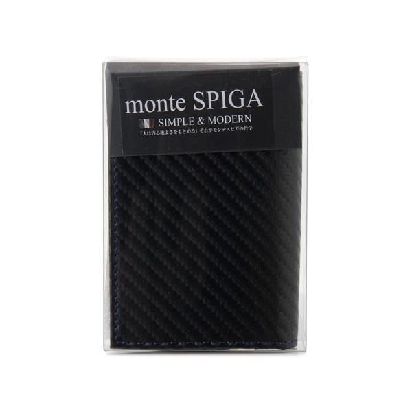 monte SPIGA モンテスピガ 名刺入れ MOSQS618ABKBL カーボン調 カードケース ブラック|s-select|04