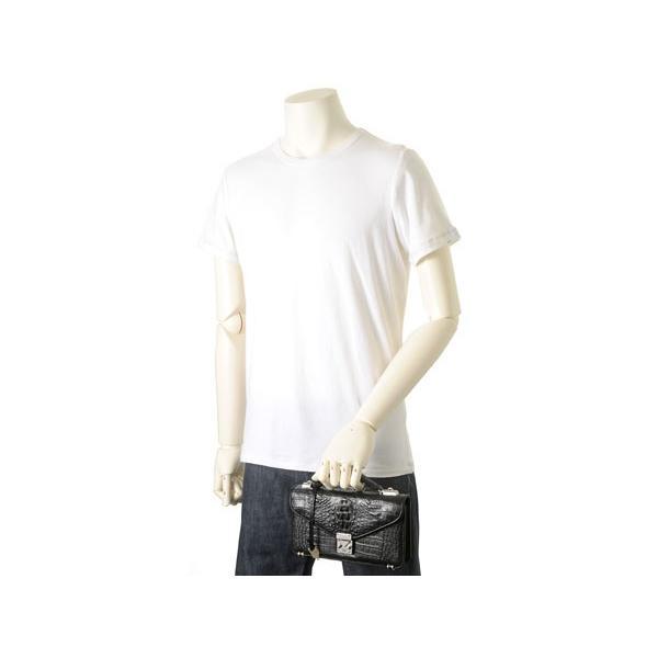 ワニ革 セカンドバッグ メンズバッグ カイマンワニ OKU0315HBKMT 財布一体型バッグ ブラック|s-select|04