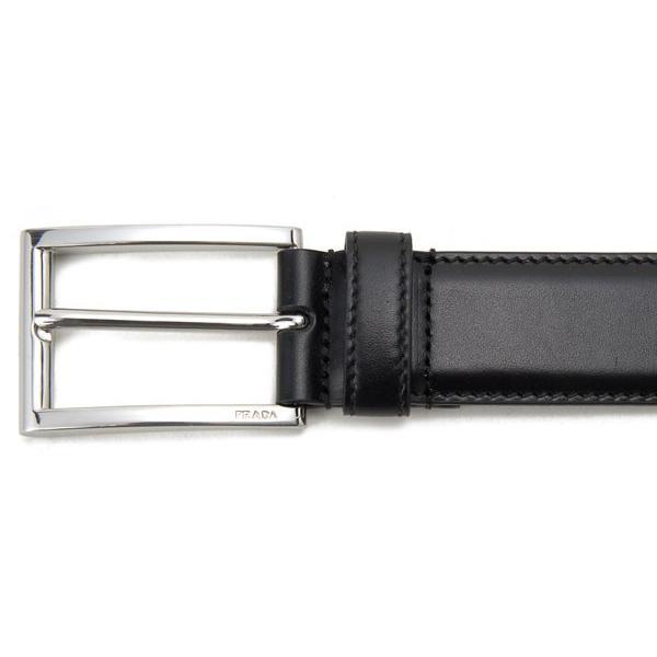 プラダ PRADA メンズ ベルト 2CC001 X72 F0002 レザー ビジネスベルト ブラック【送料無料】|s-select|02