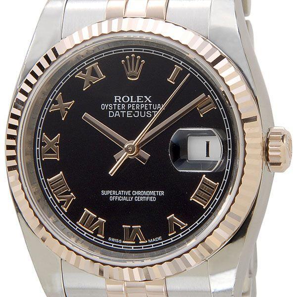 wholesale dealer 1f175 5cb08 ロレックス ROLEX 116231 BK-R デイジャスト ローマ ブラック ...
