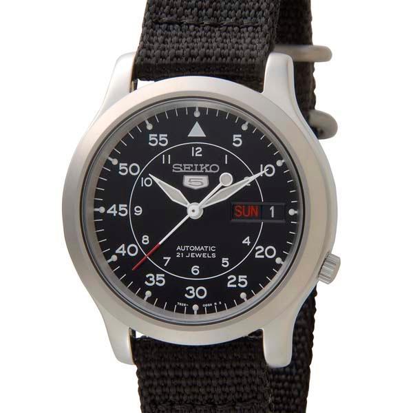 セイコー5 SEIKO5 腕時計 時計 メンズ ミリタリー ブラック SEIKO SNK809K2 セイコーファイブ