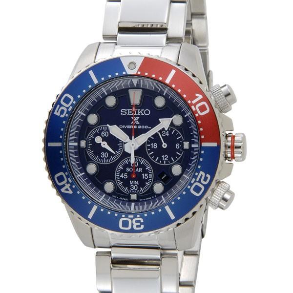 PayPayセイコー腕時計SEIKOクロノグラフダイバーズソーラーSSC019P1ブルーメンズウォッチセイコーウオッチ新品