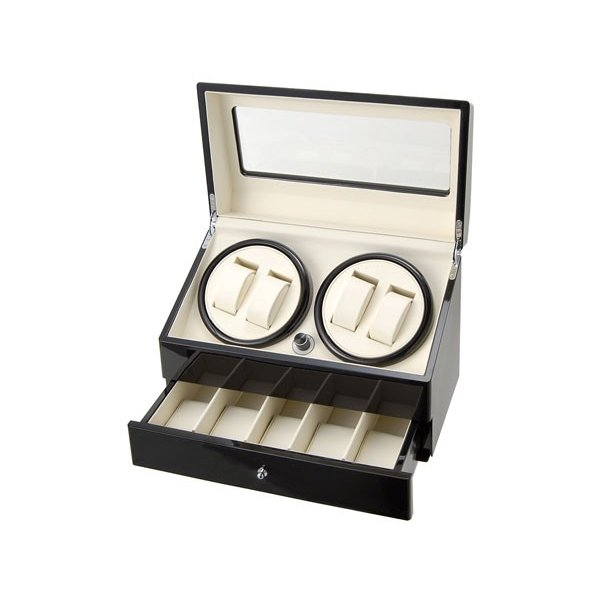 Royal hausen ロイヤルハウゼン ワインダー 時計収納ケース付きワインダー4本巻5本収納 SR074 BK ワインディングマシーン 腕時計/自動巻き機 2年保証|s-select|02