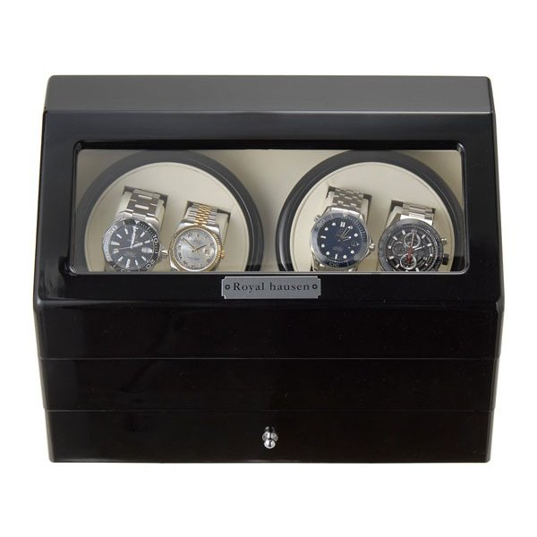 Royal hausen ロイヤルハウゼン ワインダー 時計収納ケース付きワインダー4本巻5本収納 SR074 BK ワインディングマシーン 腕時計/自動巻き機 2年保証|s-select|03