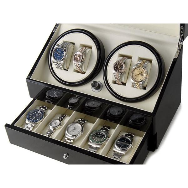 Royal hausen ロイヤルハウゼン ワインダー 時計収納ケース付きワインダー4本巻5本収納 SR074 BK ワインディングマシーン 腕時計/自動巻き機 2年保証|s-select|04