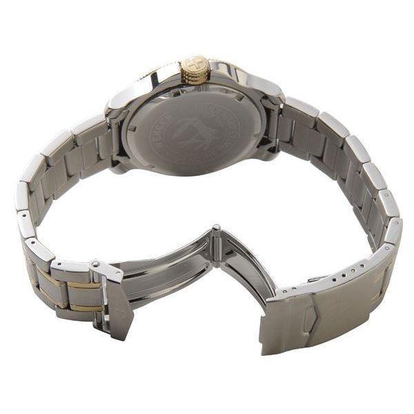 70eb82cc79 ... ウェンガー WENGER 72346 メンズ腕時計 バタリオン 200m防水 ブルー/ゴールド/シルバー ミリタリー アウトドア 時計