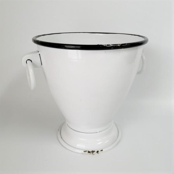 鉢 プランター ブリキ ブリキポット バケツ 植木鉢 鉢カバー ガーデニング雑貨 ガーデンポットカップ SP-IVDN1340WH