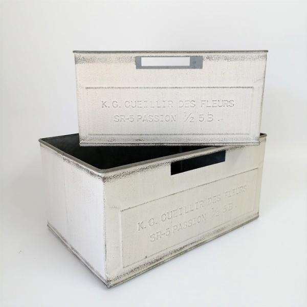 鉢 プランター ブリキ ブリキポット バケツ 植木鉢 鉢カバー ガーデニング雑貨 ルイユワイドSET2WH YZ-MH7178