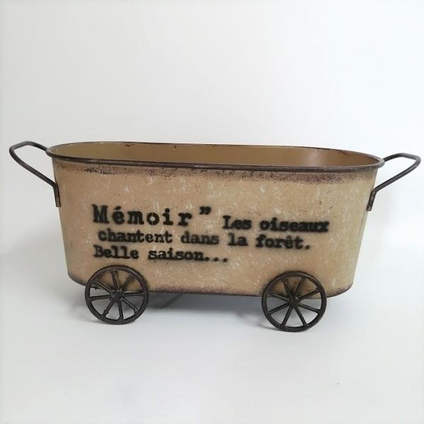 鉢 プランター ブリキ ブリキポット バケツ 植木鉢 鉢カバー ガーデニング雑貨 カトルゼソンオーバルYL YZ-UN1089