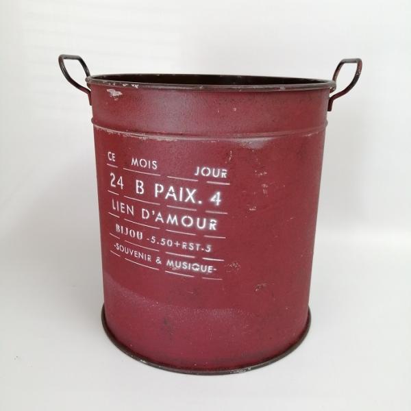 鉢 プランター ブリキ ブリキポット バケツ 植木鉢 鉢カバー ガーデニング雑貨 モアジュールラウンドRD YZ-UN1327