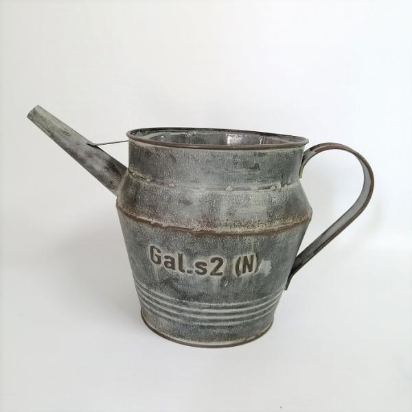 鉢 プランター ブリキ ブリキポット バケツ 植木鉢 鉢カバー ガーデニング雑貨 ヴェッキオジョーロGY YZ-MH576