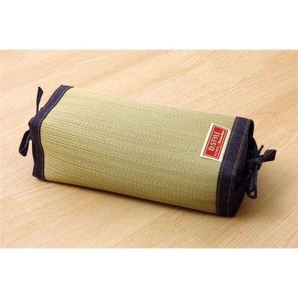 枕 まくら い草枕 消臭 ピロー 国産 デニム 高さ調整 『マイル 角枕 』 約30×15cm 中材:ポリエチレンパイプ佐川急便で発送します|s-waza